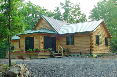 Outstanding Log Home For Sale Privately Set Between